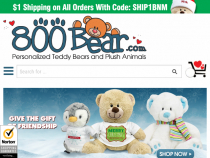 15% OFF Your Next Order W/ Email Sign Up Aat 800Bear
