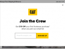 Up To 35% OFF Sitewide At Cat Footwear