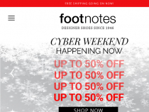 Footnotes Online Coupon Code FREE Shipping Orders $200+