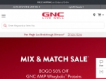 15% OFF Your Order With Email Sign Up At GNC