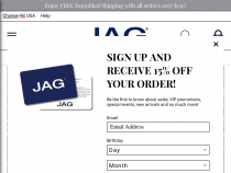 FREE Shipping On All Orders At Jag Jeans