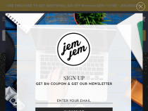 $10 OFF JemJem Coupon With Emaill Sign-Up