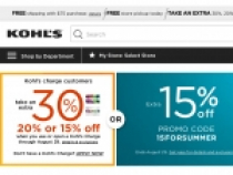 Kohls 15% OFF On Any Order Of $100+ Plus FREE Shipping