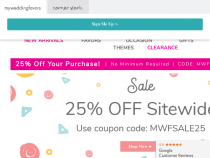 Up To 25% OFF Sale Items At MyWeddingFavors