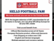 10% OFF Coupon With Email Sign-Up At NFL Shop
