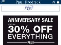 Extra 10% OFF Clearance Items At Paul Fredrick