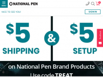 National Pen Company Coupon FREE Shipping + FREE Set Up