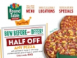 Check Out Current Round Table Pizza Specials