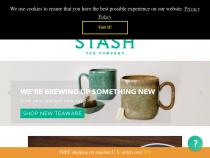 Stash Tea Promo Code 15% OFF All order.