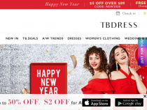 Up To 85% OFF On All Items At TBDress