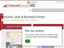 $5 OFF Each Box of Checks Priced Over $15.99 at Carousel Checks