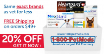 15% OFF Coupon With Email Sign-Up At 1800 Pet Meds
