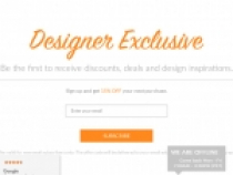 15% OFF Your Next Purchase With Email Sign Up At Designer Living