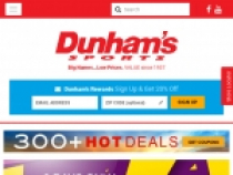 20% OFF Coupon When You Sign Up At Dunhams Sports