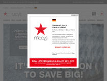 Macys 25% Off Presidents Day Sale + Free Shipping At $49