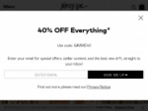 Up to 65% OFF Sale Items At Nasty Gal