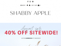 Shabby Apple Coupon 15% OFF on Dresses & Skirts Purchase