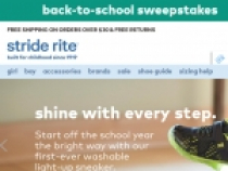 30% OFF Select Styles At Stride Rite