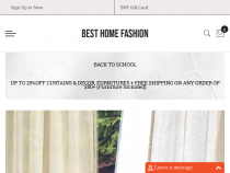 Best Home Fashion Coupon Code FREE Shipping On Orders Of $50+