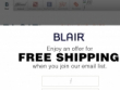 FREE Shipping With Email Sign Up At Blair