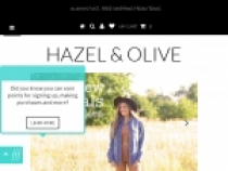 Hazel And Olive 10% OFF Your 1st Purchase W/ Email SignUp