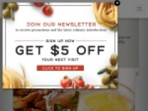 Up To $5 OFF Next Order W/ Newsletter Sign Up At Macaroni Grill