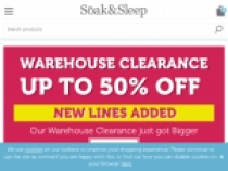 Up To 30% OFF Warehouse Clearance Sale At Soak And Sleep